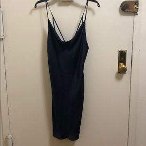 Bardot navy blue slip dress